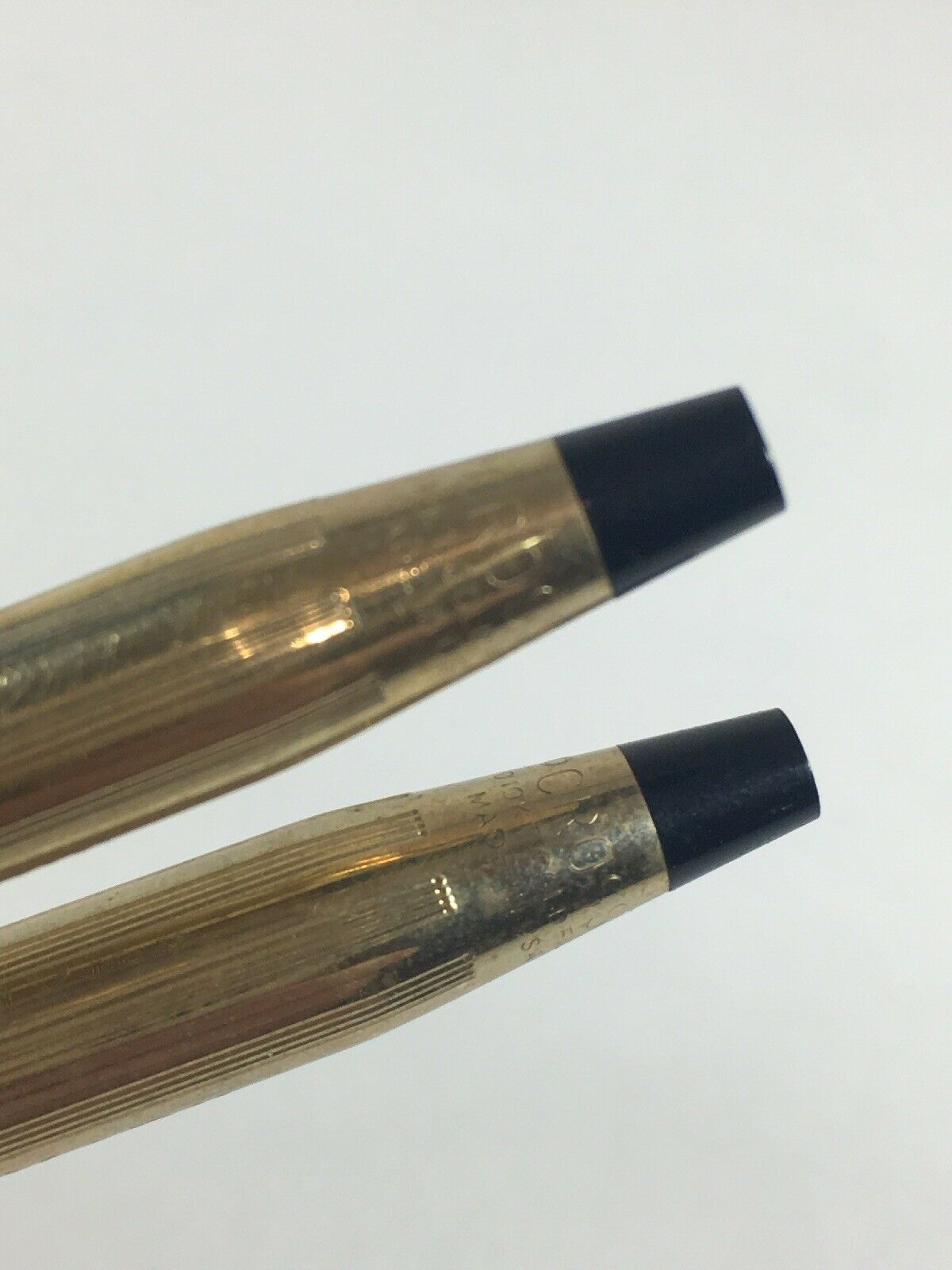 "Vintage Cross Pen And Pencil Set 1/20th 10k Gold Filled Engraved ""mary"" image 3"