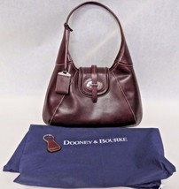 Dooney & Bourke Leather Satchel Purse In Dark Purple NW/OT - $188.10