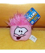 """Disney Club Penguin Plush Excited Pink 4"""" Puffle with Dark Rose Tongue - $7.95"""