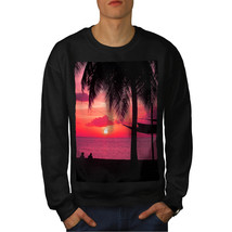 Romantic Sunset Jumper Beach Palm Tree Men Sweatshirt - $18.99+