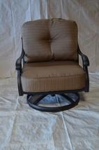 Elizabeth Outdoor Patio 4 Swivel Rocker Club Chairs Dark Bronze Cast Alu... - $1,498.86+