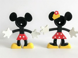 Disney Mickey & Minnie Mouse Bendable Poseable Figural 3D Picture Frames - $16.83