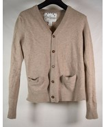 Marc By Marc Jacobs 100% Cashmere V Neck Cardigan Beige Womens - $138.60