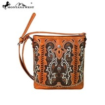 Montana West Cut-out Boot Scroll, Studs, Concho Collection Crossbody Handbag - $54.99