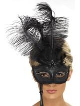 Baroque Fantasy Masquerade Eyemask, Black, Eye Masks, Womens - $16.16