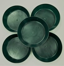 5 inch Case of 5 Austin Planter Saucers Hunter Green heavy duty Polyprop... - $15.00