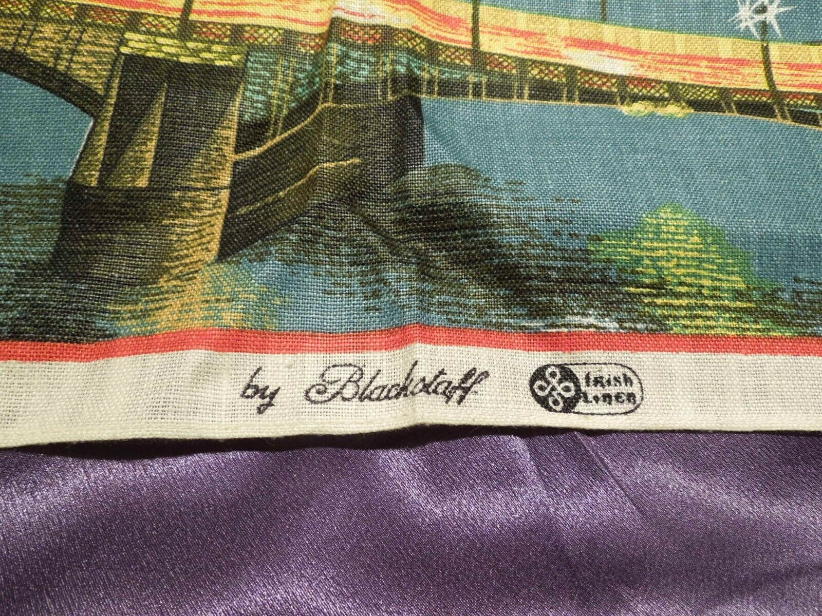 Vintage London by Night by Blackstaff Pure Irish Linen Towel Art image 5