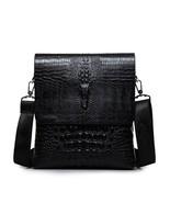 Leather Crocodile Men Bag Shoulder Handbag Messenger S Purse Genuine Bri... - $39.99