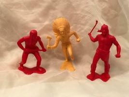 Marx and Similar Western Figures Lot 1964 Three Toys  - $10.88