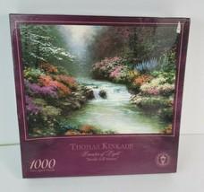Vintage Jigsaw Puzzle Thomas Kinkade Beside Still Waters 1000 Piece Sealed 2001 - $27.71