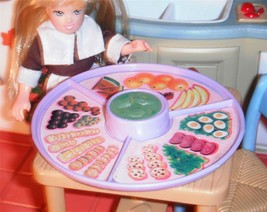 Barbie Thanksgiving Holiday Snack Tray  Play Food Accessories Little Kel... - $11.99