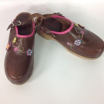 Shoes Clogs Flowers Andersson Euro 7 US Wood Women's Leather 38 Hanna Size xwt1fF