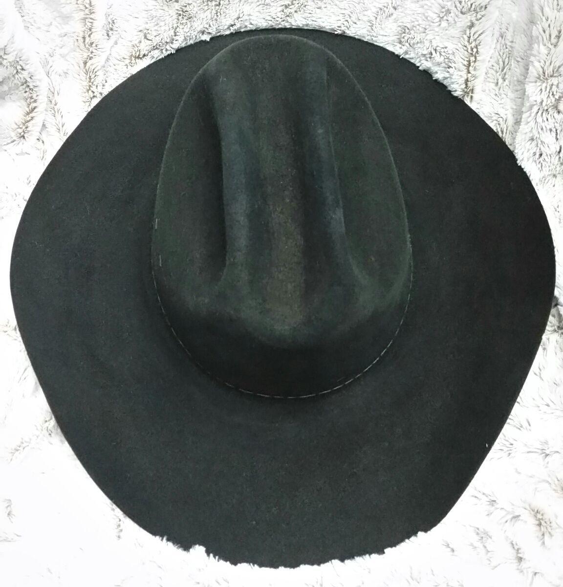 955ece56e9c55 Stetson Cowboy 4X Beaver Felt black K Quill Size 7L No Band Vintage