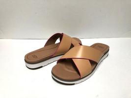 Ugg Kari Women Flip Flop Leather Natural Us 11 /UK 9.5 /EU 42 - $79.19
