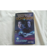 Star Trek Voyager  #4 Violations Softcover Paperback Book   - $5.45