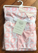 "SWEET LOVE PINK/WHITE ""X'S"" & ""O'S""  REVERSIBLE BABY BLANKET  30"" X 40"" NWT - $14.39"