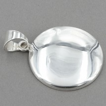 Retired Silpada Sterling Silver Large Wavy Disc Pendant S1123 - $19.99