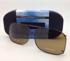 COCOONS Amber Polarized Sunglasses/Eyeglasses Over Rx Clip-on SQR 2-56 Bronze