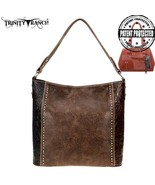 Montana West Trinity Ranch Concealed Carry Floral Tooled Leather Hobo Ha... - $72.99