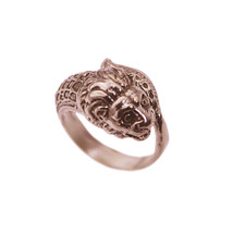 Chinese New Year Dragon Lion Dance Parade Ring Rose Gold Pltd dignity Lu... - $35.42