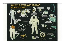 Vintage NASA Postcard Astronaut Space Shuttle Extravehicular Mobility Un... - $9.99