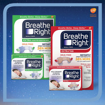 Breathe Right EXTRA Nasal Strips 44 Count Tan or Clear Freeshipping New ... - $17.98