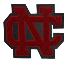 Varsity Letterman Letters NC Red And Black Cloth High School  - $8.59
