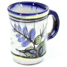Ceramic Hand Painted Hummingbird & Flower Espresso Cup Mug Handmade Guatemala image 3