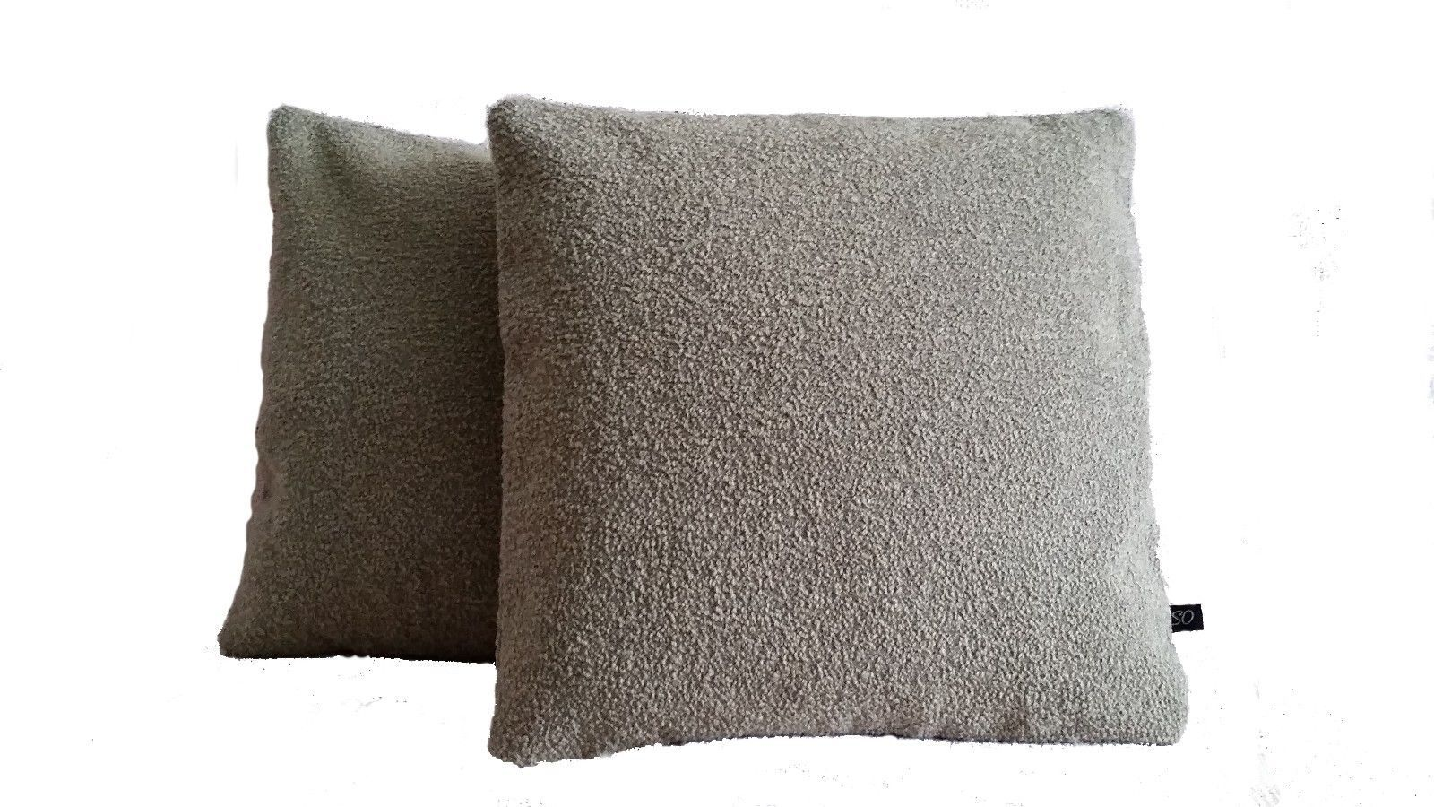 Two Pillow Covers Luna Winsome Griege Beige Wool Boucle SW1-5216 - B1