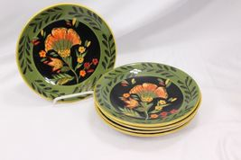 222 Fifth Arabian Flower Dinner and Salad Plates Lot of 11 Hand Painted image 7