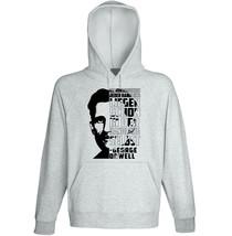 George Orwell Die Konsequenzen - New Cotton Grey Hoodie - $31.88