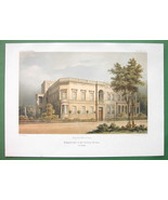 ARCHITECTURE COLOR PRINT : Residential Building on Victoria Strasse in B... - $33.42