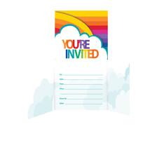 Rainbow Gatefold Invitation, Case of 48 - €27,47 EUR
