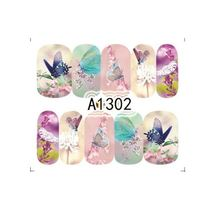 "HS Store -1 Sheets Nail Sticker Butterfly ""A1302"" Nail Decorations UV Ge... - $2.51"
