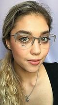 New Miu Miu VMU 51O UET-101 53mm Gray Gold Cat Eye Women's Eyeglasses Frame - $229.99