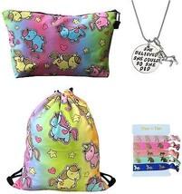 Unicorn Gifts 4 Pack - Unicorn Drawstring Backpack/Makeup Bag/Inspirati... - $45.27