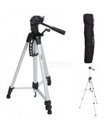 Tripod Camera Head Stand 60-Inch Lightweight Adjustable-height with Carr... - $22.08