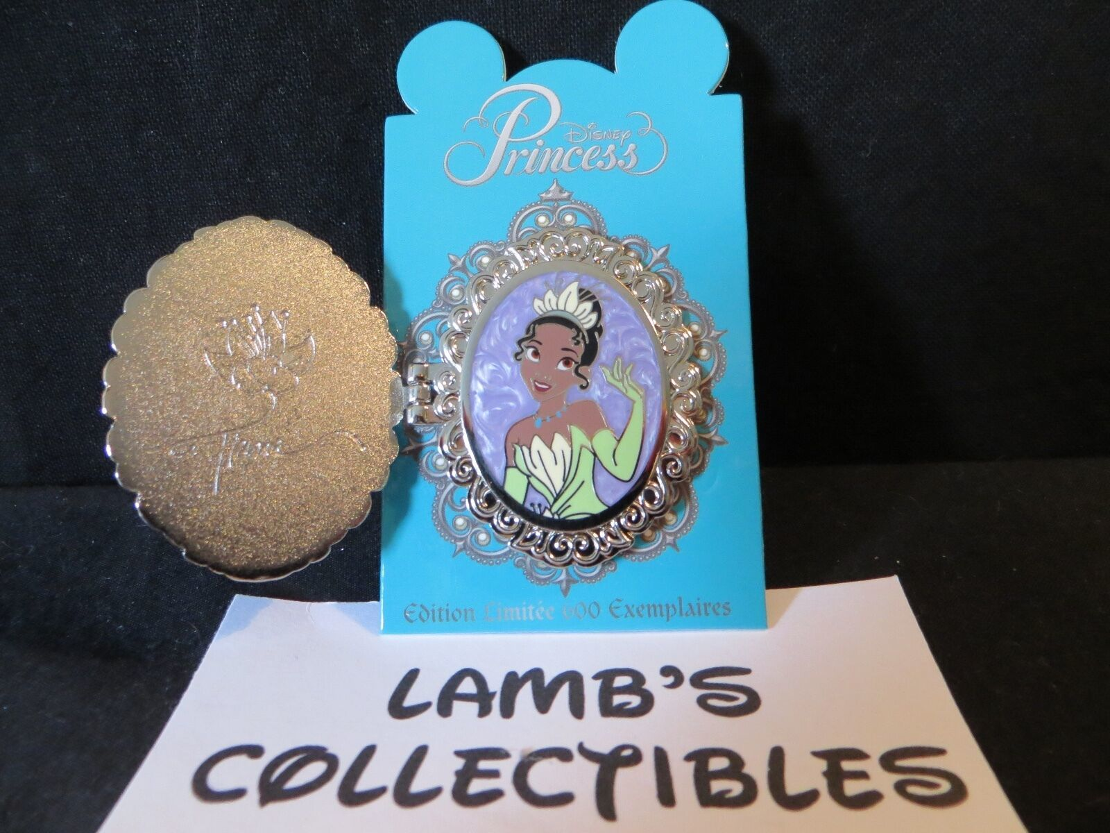 Primary image for DLP Princess Symbol Locket Tiana Princess and the frog Disney Pin LE