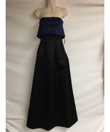 Sable & Zoe Dress Womens Size 0 Full Length Gown Strapless Black Blue NWT - $193.50