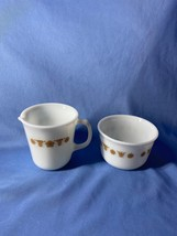 Pyrex Corning Corelle Butterfly White Pattern Creamer And Open Sugar Bowl Set - $12.99