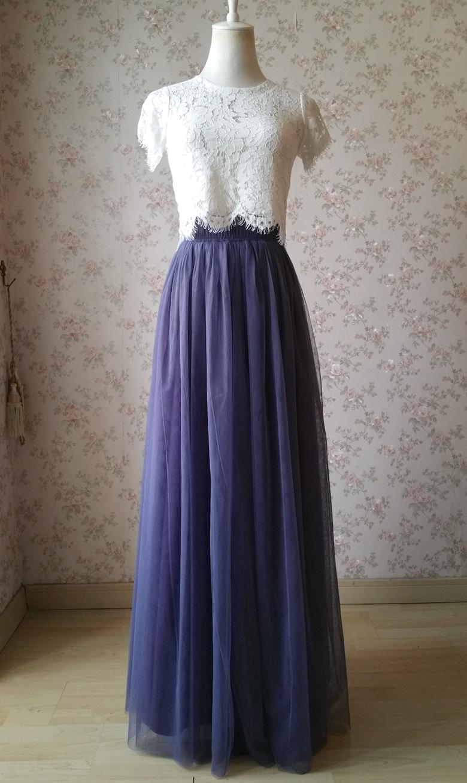 Maxi tulle skirt purple 780 3