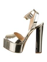Giuseppe Zanotti Lavinia Ramino Gold Metallic Platform Heels Open Toe 35... - €533,89 EUR