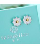 STERLING SILVER 925 HAWAIIAN PLUMERIA FLOWER STUD POST EARRINGS 8MM - $9.79