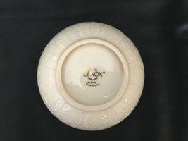 Vintage Lenox Cream Beige 24k Gold Rim Encrusted Bowl Made in USA Leaf Leaves image 8