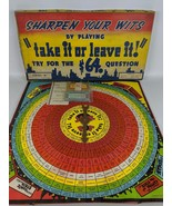 RARE Vintage 1942 TAKE IT OR LEAVE IT Quiz Board Game by Zondine Game Co. - $55.00