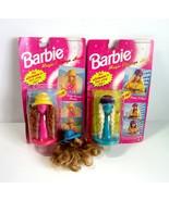 3 Mattel Barbie Magic Change Hair Wigs - Cowgirl - Curly Beauty -Crimp N... - $12.99
