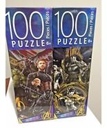 Set of 2 PUZZLE Avengers Infinity War ( 100 pieces each ) 6 + rompecabez... - $10.88