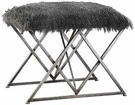 Uttermost Astairess Multi-Hued Brown Faux Fur Small Bench - $286.00