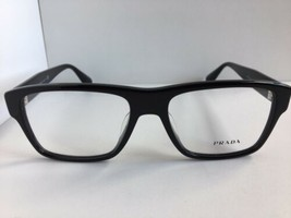 New PRADA VPR 1SF7 1AB-1O1 55mm Polished Black Men's Eyeglasses Frame No... - $189.99