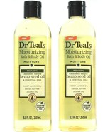 2 Count Dr. Teals Moisturizing Bath Body Relaxing Hemp Seed Almond Oil 8... - $29.99